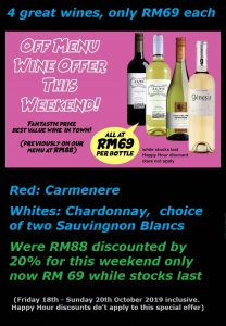 RM69 wine offer Oct 2019