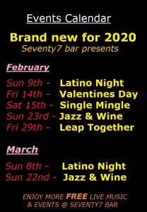 Events late Jan 2020